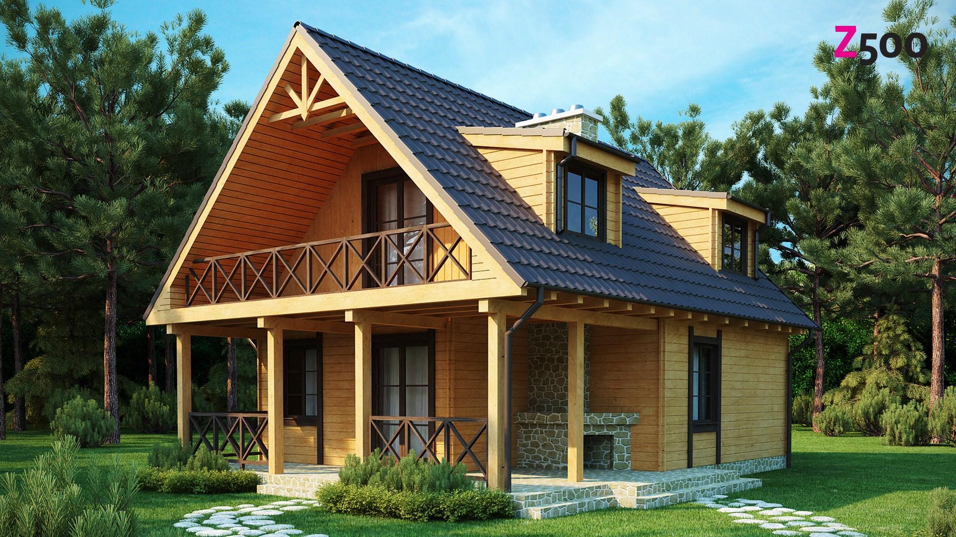 Фото бруса для строительства дома от Lesmos